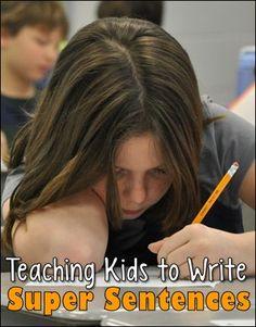 Teaching Kids to Write Super Sentences