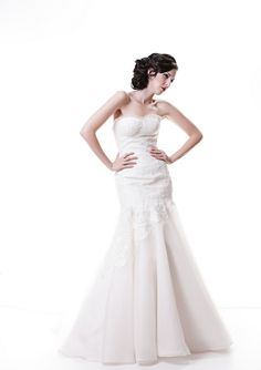 August Wedding Dress – Sarah Houston White 2012 Collection