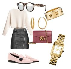 Untitled #102 by whatscooljay on Polyvore featuring polyvore, fashion, style, Topshop, Nicholas Kirkwood, Gucci, Tory Burch, Tiffany & Co., Diane Von Furstenberg, Illesteva and clothing