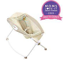 Best $50 spent on baby for parental night-time sleep!!  Fisher-Price Newborn Rock 'n Play Sleeper - Tan Lattice