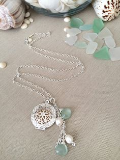22 Aromatherapy Locket Diffuser Necklace with by SimplyQuinns