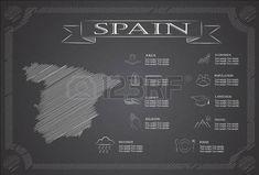 Infografía España, datos estadísticos, de las vistas.