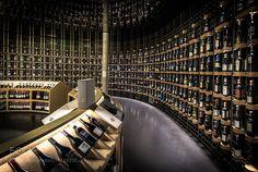 Shop - La Cité du Vin (Bordeaux France) by MichaelMnch1 from http://500px.com/photo/214328335 - Hundreds of bottles of wine from all over the world. La Cité du Vin is worth a visit!. More on dokonow.com.