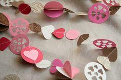 The Creative Place: DIY :: Valentine Garland