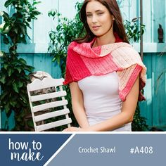 A408 Crochet Shawl- View the full FREE project at www.lincraft.com.au