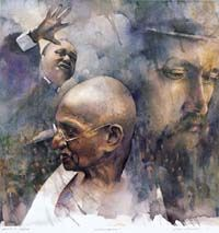 Stan Miller paintings | Blessed Are The Non-Violent