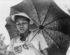 woman with parasol Louisiana, July 1937 , by Dorthea Lange