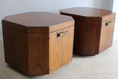 Pair Octagonal End Tables image 5