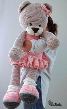 Animal Knitting Patterns, Crochet Dolls Free Patterns, Stuffed Animal Patterns, Crochet Designs, Crochet Teddy Bear Pattern, Crochet Bunny, Crochet Animals, Kawaii Crochet, Crochet Disney
