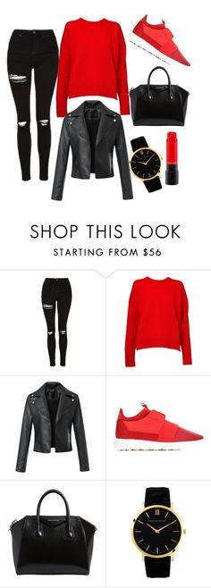 """""""simple"""" by chaymaezaazaa ❤ liked on Polyvore featuring Topshop, &Daughter, Balenciaga, Givenchy and MAC Cosmetics"""