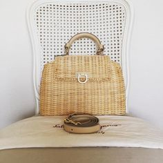 Salvatore Ferragamo 2 Ways Handbag in Woven Wicker with Leather Handle and Strap Unused Condition (size 27x21x10 cms) 57500 baht