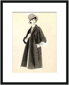 Soicher Marin 1970's Fashion Illustrations by by Framed Giclee)