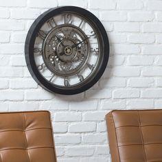 Wall Clocks You'll Love in 2020 Metal Clock, Wall Clock With Gears, Traditional Wall Clocks, Wall Clock Online, Plastic Glass, Metal Hangers, Modern Wall, Clear Glass, House Design