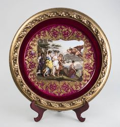 Royal Vienna Porcelain Charger * : Lot 674
