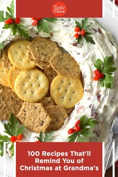 100 Recipes That'll Remind You of Christmas at Grandma's Christmas Snacks, Christmas Goodies, Christmas Recipes, Christmas Eve, Holiday Recipes, Cracker Candy, Standing Rib Roast, Cut Out Cookies, Sweet Potato Casserole