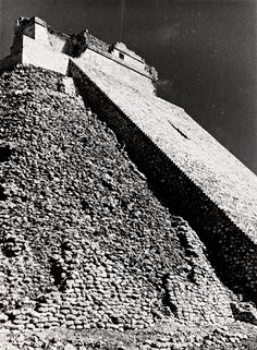 Albers' photograph of Pyramid of the Magician, in Uxmal, Mexico