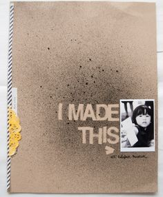 Make a great cover for an art folder or art journal