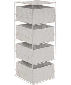 ColourMatch 4 Drawer Storage Unit - White.