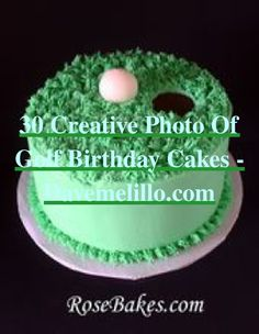 30+ Creative Photo of Golf Birthday Cakes - davemelillo.com   Golf Birthday Cakes   Hole In One First Birthday   Golf Party   Valentines Day Golf Games. Whether you like playing golf or watching golf, a golfing style party is a swinging celebration for fans of all ages. Choosing your invitation is the equivalent of the title of a paper, it sets the tone for the whole celebration, even a casual...