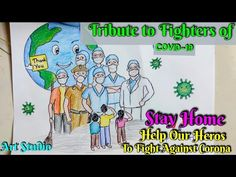 Coronavirus Prevention Awareness Poster Drawing/Stay at Home Fight Against Novel Coronavirus drawing Pencil Drawing Images, Art Drawings Sketches Simple, Oil Pastel Drawings, Pretty Drawings, Colorful Drawings, Cool Drawings, Save Earth Drawing, Nature Drawing, Earth Drawings