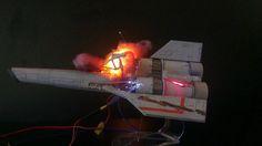 Battlestar Galactica diorama by model maker Brendan Durham