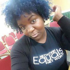 Network Equals Net Worth® Custom Tee rocked by @hautehairbystephjo, Founder/CEO of Haute Hair By Steph Jo!!! WERK hunty WERK!!