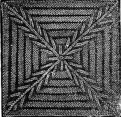knitGrandeur: Short-Rowed Knit Square, The Dawn Newspaper, 1899