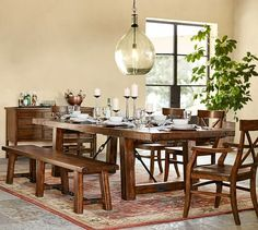 Buy Pottery Barn Benchwright Extending Dining Table Online from Pottery Barn UAE in Dubai, Abu dhabi. Experience online shopping with a wide range of Dining Tables and Enjoy ✓ Free Delivery on orders over AED 99 ✓ Easy returns ✓ Click & Collect UAE Black Dining Room Sets, Dining Set With Bench, Extendable Dining Table, Dining Room Table, Table Bench, Dining Chairs, Diy Bench, Dining Bench, Pottery Barn