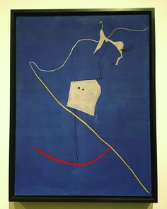 """Circus Horse"" by Joan Miro 그저 좋았던 작품, one of favorites from yesterday's visit #dayesny #modernartfollower #modernart #abstract #joanmiro #dream #play #form #actsintheworldofmagic #blue #favorite #metropolitanmuseumofart #art #nyc #메트로폴리탄 #미로 #모던아트 #꿈 #추상 #현대미술"
