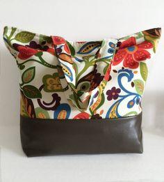 Tote Bag Beach Bag Floral Bag Overnight Bag by RavensMoonDesigns
