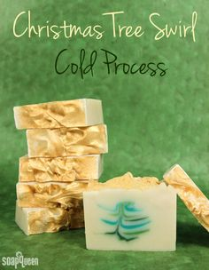 Christmas Tree Swirl Cold Process - Soap Queen