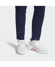 newest da606 5b3a2 Adidas Mens Eqt Bask Adv White Trace Scarlet Shoes