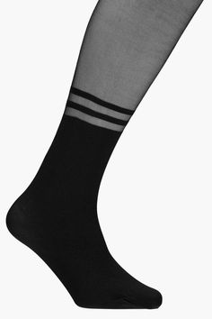 boohoo Scarlett Two Stripe Sock Tights Striped Socks, Hosiery, Boohoo, Tights, Stylish, Women, Fashion, Socks, Navy Tights