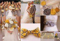 Mustard, Gold and silver wedding ideas
