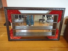 Retro Mirrored Wall Shelf Los Angeles by housecandyla on Etsy, $99.00