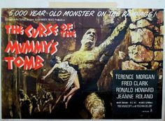 Hammer Films Movie Posters | ... MUMMYS TOMB Landscape - hammer horror b movie posters wallpaper image