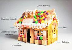 Słodki Domek DIY Sweet house DIY Candy Carboard House DIY Sweet House, Gingerbread, Candy, Desserts, Blog, Diy, Tailgate Desserts, Deserts, Bricolage