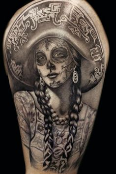 sugar skull tattoo   Sugar skull La Catrina   Arte Tattoo - Fotos e Ideias para Tatuagens