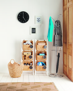 entrance organisation simplified If you ever spent time searching for your car keys, sunglasses or the kids library books on any given morning, an entryway catch-all system is for you.....