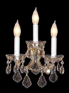 """Maria Theresa Wall Sconce Crystal Lighting H11.5"""" X W14"""" - A83-3/2813"""