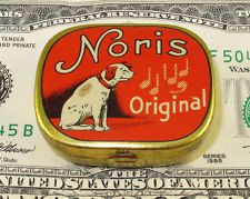 NORIS  NIPPER DOG  GRAMOPHONE  PHONOGRAPH  NADELDOSE NEEDLE TIN GERMANY #305