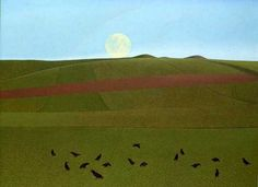 The David Inshaw website and on-line gallery, Between fantasy and reality Green Landscape, Landscape Art, Landscape Paintings, English Romantic, Pretty Drawings, Modern Landscaping, Contemporary Landscape, Illustrators, Oil On Canvas