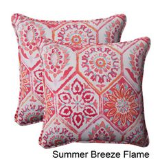 @Overstock - Pillow Perfect 'Summer Breeze' Outdoor Corded Throw Pillows (Set of 2) - Add fresh color and vibrant textures to your furniture with this set of two corded throw pillows. These cozy pillows are suitable for outdoor furniture, made with UV protective material to resist weather damage and fading.    http://www.overstock.com/Home-Garden/Pillow-Perfect-Summer-Breeze-Outdoor-Corded-Throw-Pillows-Set-of-2/7847413/product.html?CID=214117  $53.99