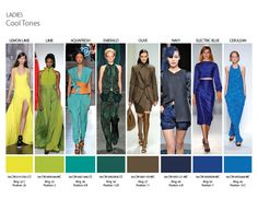 Spring Summer 2014 Runway colors - 4 palette shots - from CSI / Fashion Snoops  Ladies and Men reference to the Color WallTM from Spring/Summer 2014