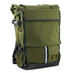 LIFE BEHIND BARS LIFE BEHIND BARS PELOTON ROLLTOP BACKPACK – OLIVE  S$289