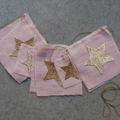 Numero 74 Girls Pink Star Flag Garland | AlexandAlexa