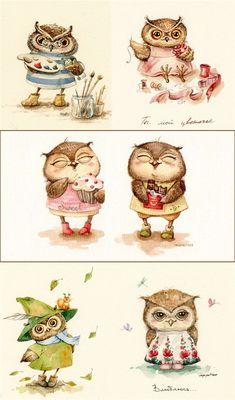 Cовушковое... Комментарии : LiveInternet - Российский Сервис Онлайн-Дневников Owl Artwork, Paper Owls, Owl Always Love You, Little Owl, Cute Owl, Owl Pumpkin, Drawing People, Baby Quiet Book, Owl Print