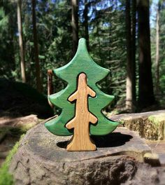 WALDORF Tree Fir-tree  Waldorf nature table Infant Learning Toys Wooden Tree ToyTree figurine Woodland set puzzle Handmade Birthday gift