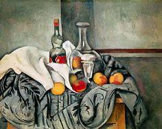 Cézanne, Naturaleza muerta con botella de menta. Tomado de http://www.google.fr/imgres?q=c%C3%A9zanne=317=1=fr=N=d=1920=891=isch=v14F2N1tkNb2PM:=http://www.repro-tableaux.com/a/paul-cezanne/peches-et-bouteilles.