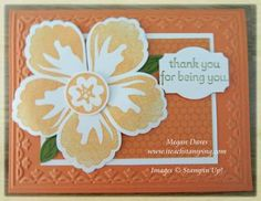 Stampin up! Build a Blossom punch card